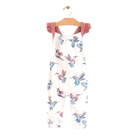 Hummingbirds Cross Back Romper