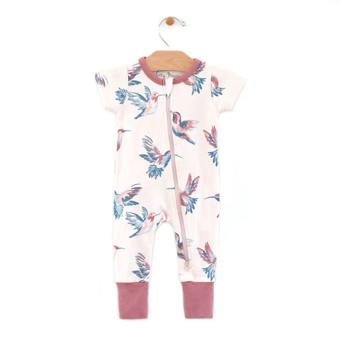 Hummingbirds 2-Way Zip Romper