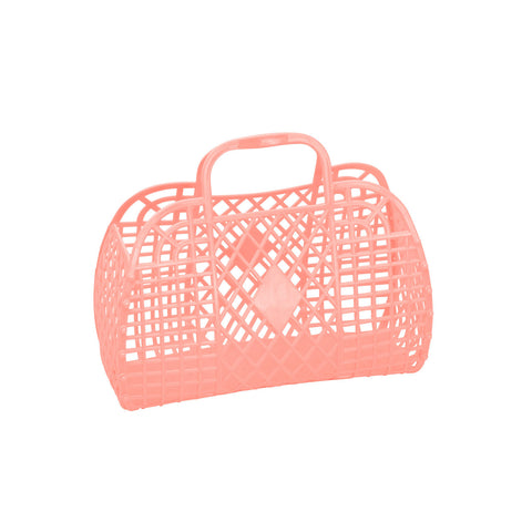 Jelly Retro Basket - Small - Peach