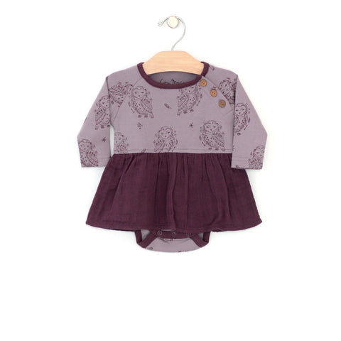 Owl Skirted Bodysuit