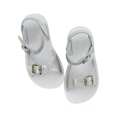 Salt Water Surfer Sandals - Silver