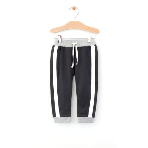 Side Stripe Jogger - Charcoal