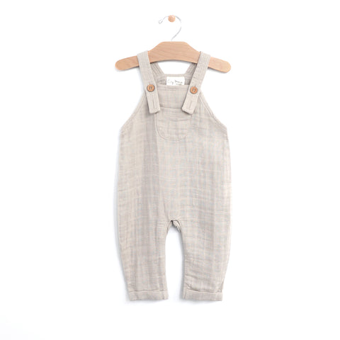 Muslin Pocket Overall - Rain Cloud