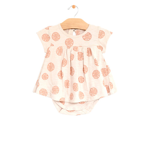 Bodysuit Baby Dress - Grapefruits