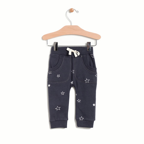 Patch Pocket Stars Jogger - Shadow