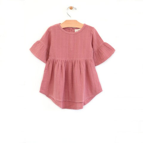 Muslin Bell Sleeve Dress