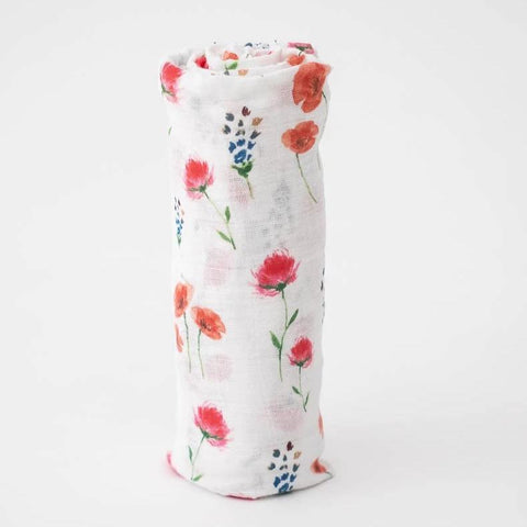 Cotton Muslin Swaddle - Wild Mums Flowers