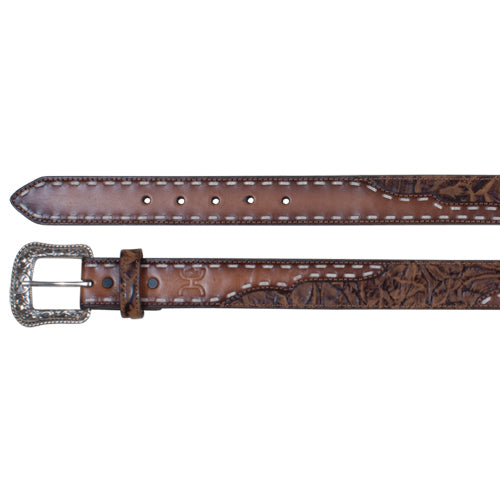 Brown Marbled Leather Belt