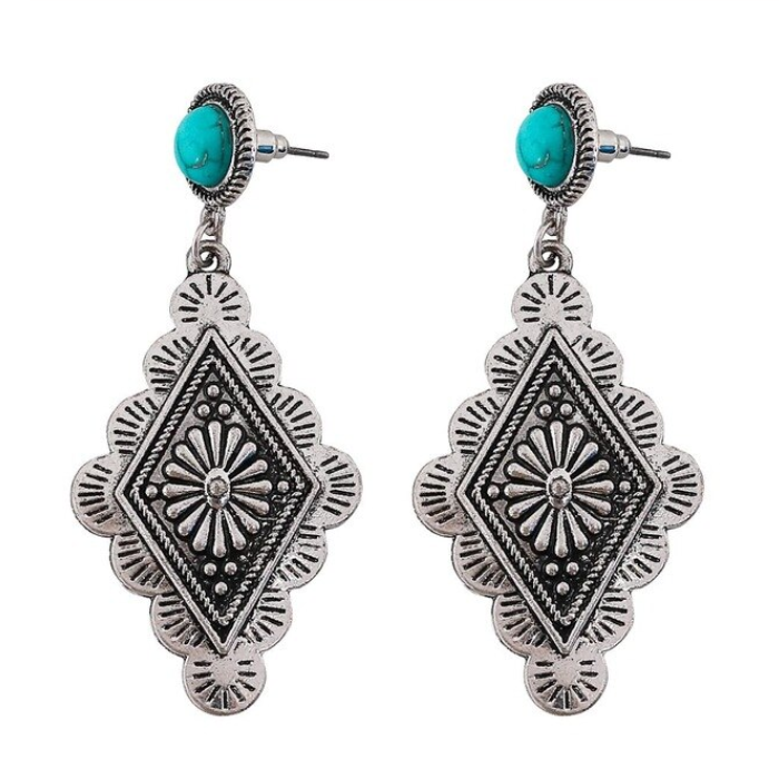 Diamond Concho Earrings