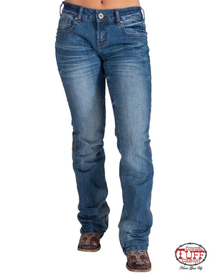 'Fancy Fly' Classic Fit Bootcut Jeans