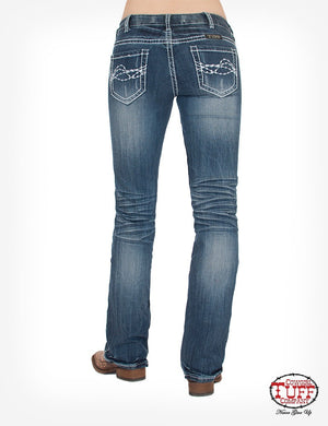 Edgy Classic Fit Bootcut Jeans