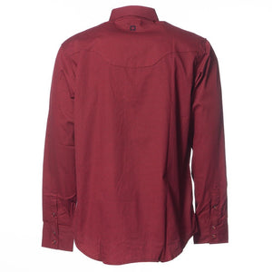 Mens Crimson Longsleeve Button Up Shirt