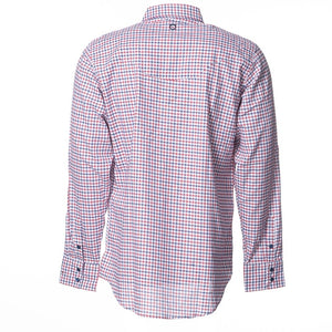 Mens Red Check Longsleeve Button Up Shirt