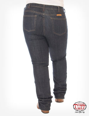 'Just Tuff Dark' Natural Waist Bootcut Jeans