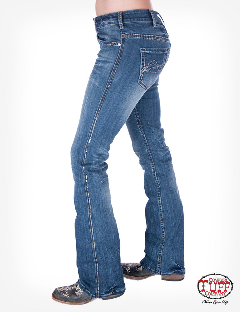 'Touch of Class' Classic Fit Bootcut Jeans