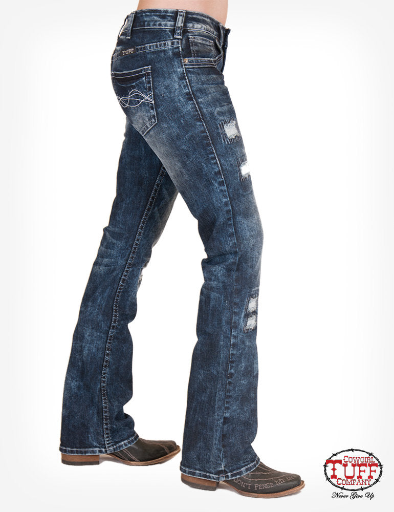 'Tuff Enough' Classic Fit Bootcut Jeans