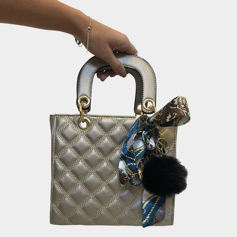 Love Affair Zilver Quilted Crossbody Tas