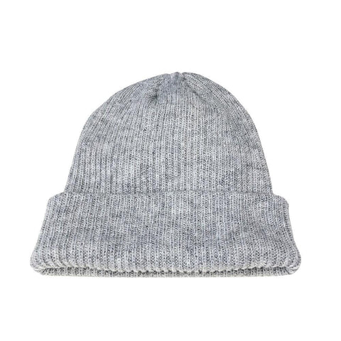 Hallie Grey Knit Beanie