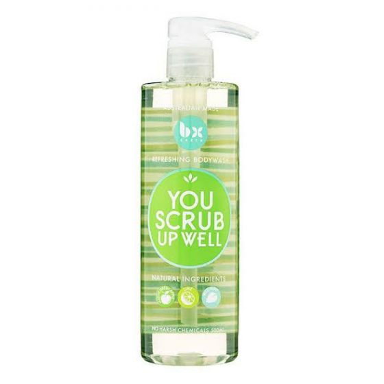 BX EARTH You Scrub Up Well Body Wash 500ml $7.99 Body Scrubs & Exfoliants BX EARTH 9310665004949 Shop Cosmetics Online Glamabox Cosmetix ☆ Best Beauty Brands! Shop Skincare, Haircare & Makeup. Find all of your Beauty needs right here. Shop Makeup with Afterpay✓ Humm✓ Laybuy✓ Free Shipping*