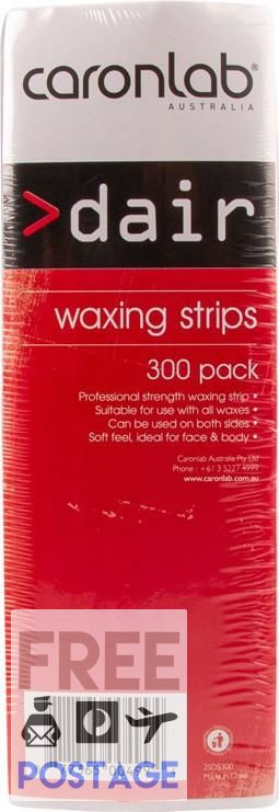Caron Dair Non Woven Strip 300pk $14.95 Wax Strips Caron 877365004994 Glamabox Cosmetix ☆ Afterpay Humm Pay  Laybuy Cosmetics Online Free Shipping