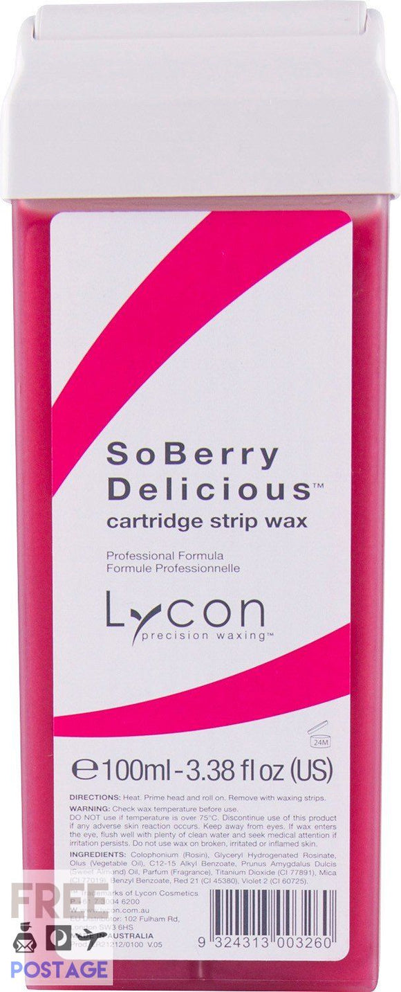 Lycon SoBerry Delicious Wax Cartridge 100ml $3.95 Wax Cartridge Lycon 9324313003260 Shop Cosmetics Online Glamabox Cosmetix ☆ Best Beauty Brands! Shop Skincare, Haircare & Makeup. Find all of your Beauty needs right here. Shop Makeup with Afterpay✓ Humm✓ Laybuy✓ Free Shipping*
