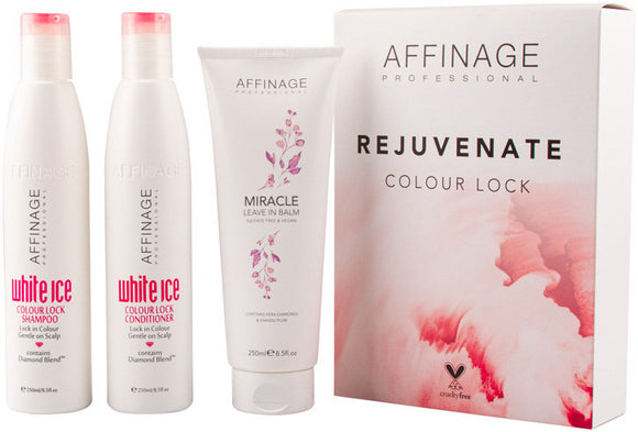 Affinage Colour Lock and Miracle Leave In Balm Trio Christmas Pack $35 Hair Set's & Packs Affinage 9329633008667 Glamabox Cosmetix ☆ Afterpay Humm Pay  Laybuy Cosmetics Online Free Shipping