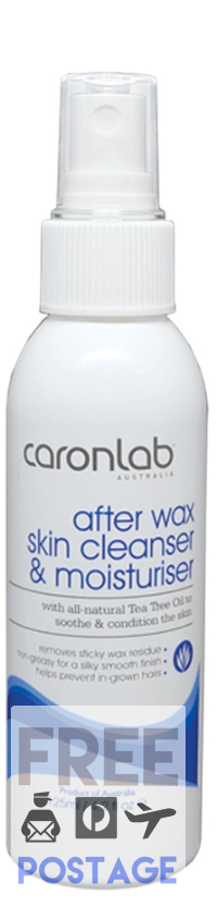 Caron After Wax Skin Cleanser & Moisturiser 125ml $11.99 Post Wax Care Caron 0877365000248 Glamabox Cosmetix ☆ Afterpay Humm Pay  Laybuy Cosmetics Online Free Shipping