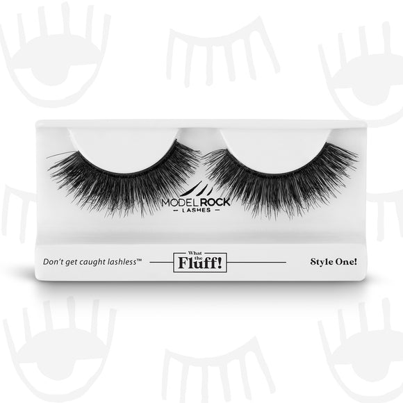 WHAT THE FLUFF ! 'Style One' MODELROCK Lashes $12 Glamabox Cosmetix ☆ Afterpay  Humm  Laybuy False Lashes
