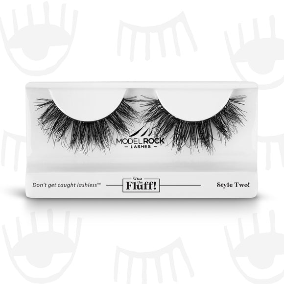 WHAT THE FLUFF ! 'Style Two' MODELROCK Lashes $12 Glamabox Cosmetix ☆ Afterpay  Humm  Laybuy False Lashes