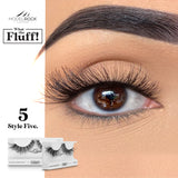 WHAT THE FLUFF ! 'Style Five' MODELROCK Lashes $12 Glamabox Cosmetix ☆ Afterpay  Humm  Laybuy False Lashes