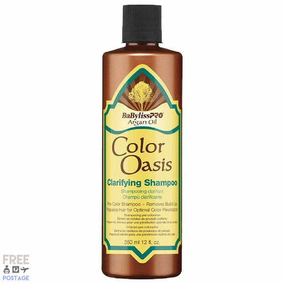 BaByliss PRO Argan Oil Colour Oasis Clarifying Shampoo 350ml $21.99 Shampoo BaByliss PRO 074108285805 Glamabox Cosmetix ☆ Afterpay Humm Pay  Laybuy Cosmetics Online Free Shipping