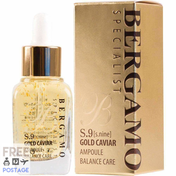 Bergamo Specialist Facial Serum S.9 Gold Caviar Balance Care 30ml $38.99 Anti-Aging Bergamo 8809180017813 Shop Cosmetics Online Glamabox Cosmetix ☆ Best Beauty Brands! Shop Skincare, Haircare & Makeup. Find all of your Beauty needs right here. Shop Makeup with Afterpay✓ Humm✓ Laybuy✓ Free Shipping*