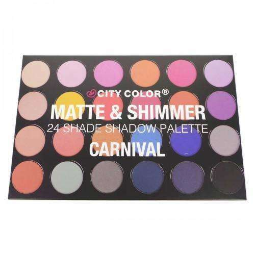 CITY COLOR Matte & Shimmer 24 Shade Shadow Palette - Carnival $17.99 Eyeshadow Palettes CITY COLOR Cosmetics 849136020892 Glamabox Cosmetix ☆ Afterpay Humm Pay  Laybuy Cosmetics Online Free Shipping
