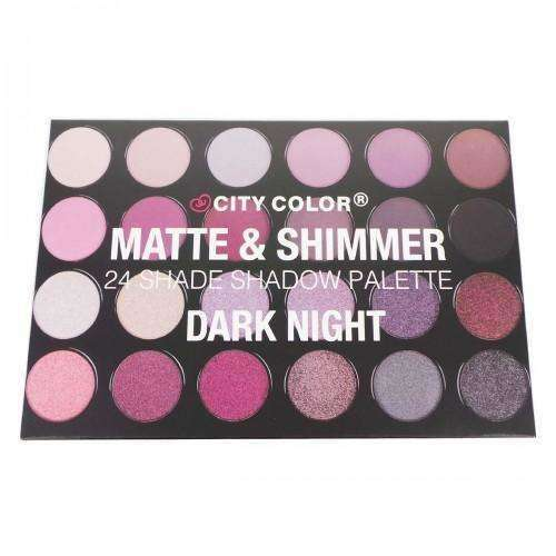 CITY COLOR Matte & Shimmer 24 Shade Shadow Palette - Dark Night $17.99 Eyeshadow Palettes CITY COLOR Cosmetics 849136020885 Glamabox Cosmetix ☆ Afterpay Humm Pay  Laybuy Cosmetics Online Free Shipping
