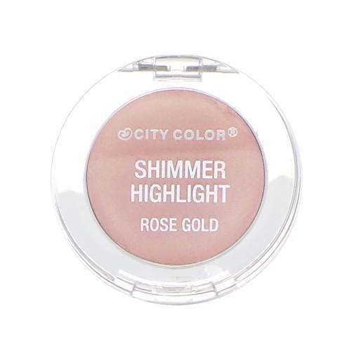 CITY COLOR Shimmer Highlight - Rose Gold $5.99 Highlighters - Makeup CITY COLOR Cosmetics 0849136017885 Glamabox Cosmetix ☆ Afterpay Humm Pay  Laybuy Cosmetics Online Free Shipping