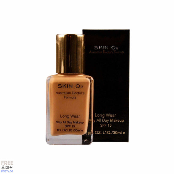 Skin O2 Long Wear Foundation 30ml - Tan $37.99 Foundation Skin O2  Shop Cosmetics Online Glamabox Cosmetix ☆ Best Beauty Brands! Shop Skincare, Haircare & Makeup. Find all of your Beauty needs right here. Shop Makeup with Afterpay✓ Humm✓ Laybuy✓ Free Shipping*