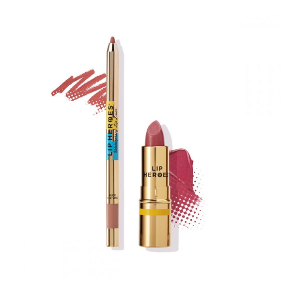 Lip Heroes - Lipstick and Liner Duo - BERRY NUDE $65 Lipstick Lip Heroes  Glamabox Cosmetix ☆ Afterpay Humm Pay  Laybuy Cosmetics Online Free Shipping