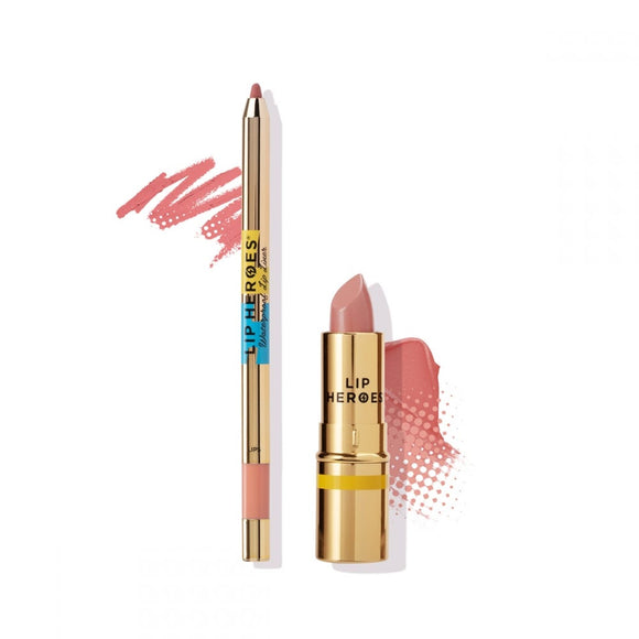 Lip Heroes - Lipstick and Liner Duo - NATURAL $65 Lipstick Lip Heroes  Glamabox Cosmetix ☆ Afterpay Humm Pay  Laybuy Cosmetics Online Free Shipping