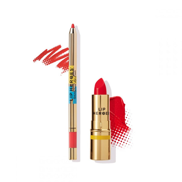 Lip Heroes - Lipstick and Liner Duo - ORANGE