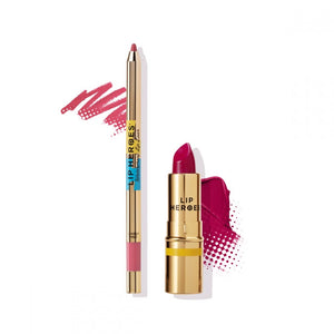 Lip Heroes - Lipstick and Liner Duo - PINK $65 Lipstick Lip Heroes  Glamabox Cosmetix ☆ Afterpay Humm Pay  Laybuy Cosmetics Online Free Shipping