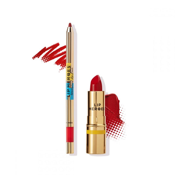 Lip Heroes - Lipstick and Liner Duo - RED $65 Lipstick Lip Heroes  Glamabox Cosmetix ☆ Afterpay Humm Pay  Laybuy Cosmetics Online Free Shipping