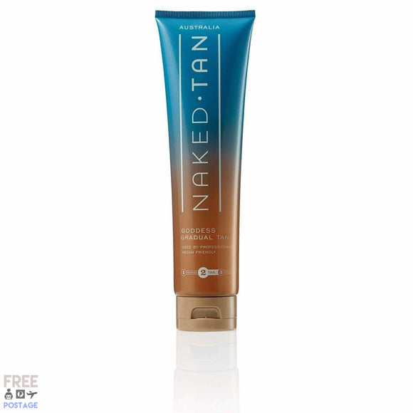 Naked Tan Goddess Gradual Tan 150ml $27.99 Self Tanning Naked Tan  Shop Cosmetics Online Glamabox Cosmetix ☆ Best Beauty Brands! Shop Skincare, Haircare & Makeup. Find all of your Beauty needs right here. Shop Makeup with Afterpay✓ Humm✓ Laybuy✓ Free Shipping*