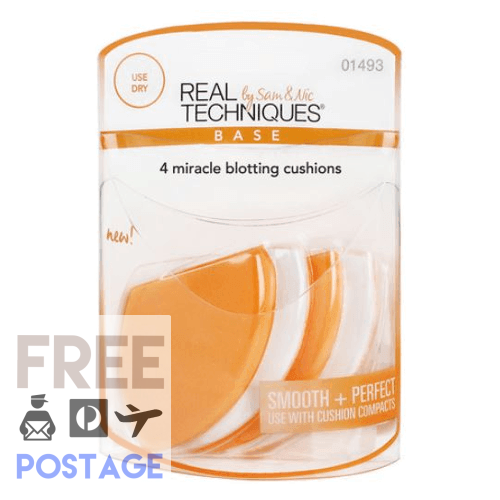 Real Techniques 4 Miracle Blotting Cushions $23.99 Makeup Brushes & Blenders Real Techniques  Shop Cosmetics Online Glamabox Cosmetix ☆ Best Beauty Brands! Shop Skincare, Haircare & Makeup. Find all of your Beauty needs right here. Shop Makeup with Afterpay✓ Humm✓ Laybuy✓ Free Shipping*
