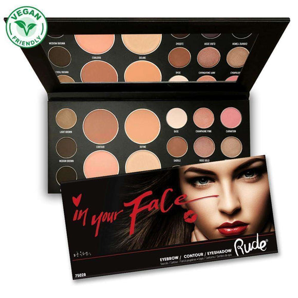 RUDE - In Your Face 3-in-1 Palette $27.99 Eyeshadow Palettes Rude 701851750280 Shop Cosmetics Online Glamabox Cosmetix ☆ Best Beauty Brands! Shop Skincare, Haircare & Makeup. Find all of your Beauty needs right here. Shop Makeup with Afterpay✓ Humm✓ Laybuy✓ Free Shipping*