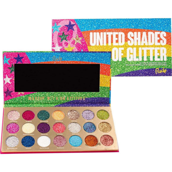 Rude United Shades of Glitter 21 Pressed Glitter Palette 21g $54.99 Eyeshadow Palettes Rude 602989879006 Shop Cosmetics Online Glamabox Cosmetix ☆ Best Beauty Brands! Shop Skincare, Haircare & Makeup. Find all of your Beauty needs right here. Shop Makeup with Afterpay✓ Humm✓ Laybuy✓ Free Shipping*