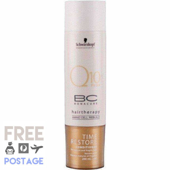 Schwarzkopf Bonacure Time Restore Q10 Conditioner 200ml $26.99 Conditioner Schwarzkopf  Shop Cosmetics Online Glamabox Cosmetix ☆ Best Beauty Brands! Shop Skincare, Haircare & Makeup. Find all of your Beauty needs right here. Shop Makeup with Afterpay✓ Humm✓ Laybuy✓ Free Shipping*