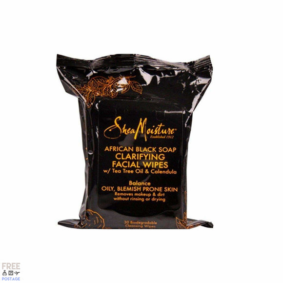 Shea Moisture African Black Soap Clarifying Facial Wipes 30 pieces $14.99 Facial Cleansing Wipes Shea Moisture  Shop Cosmetics Online Glamabox Cosmetix ☆ Best Beauty Brands! Shop Skincare, Haircare & Makeup. Find all of your Beauty needs right here. Shop Makeup with Afterpay✓ Humm✓ Laybuy✓ Free Shipping*