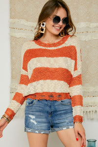 Here We Go Orange Sweater