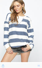 Load image into Gallery viewer, Relax With Me - Striped Pull Over Top