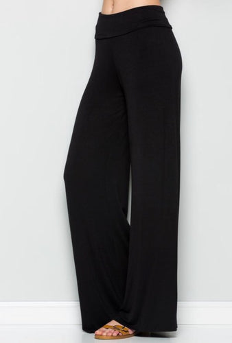 High Waist Relaxed Palazzo Pants